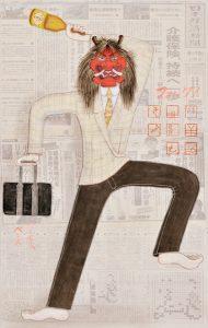 ルーカス・ペレズ 掛軸展 「Hito Bito 人々」